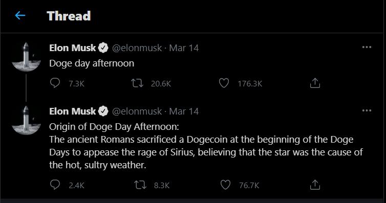 Elon Musk Doge Twitter thread - Blackwell Global